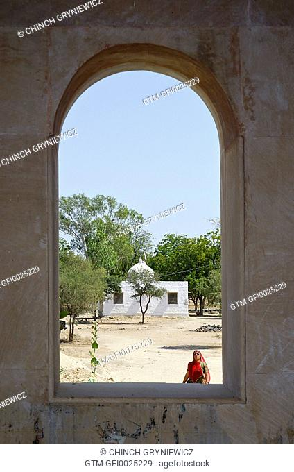 View through Indian Desert Window Arch