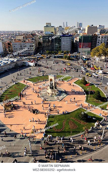 Turkey, Istanbul, View of Taksim Square