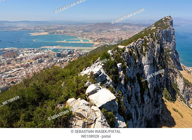 View of Spain from Top of the Rock Gibraltar, Great Britain, Europe