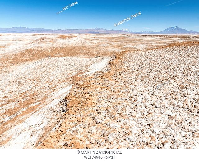 Salar de Arizaro, one of the largest salt flats in the world. The Altiplano near village Tolar Grande in Argentina close to the border to Chile
