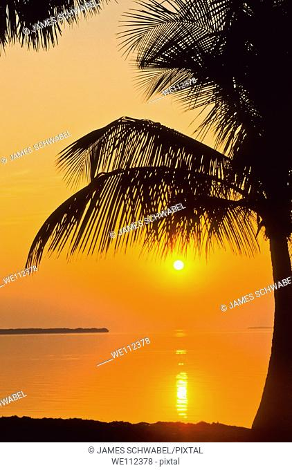 Sunrise over Florida Bay at Flamingo in the Everglades National Park Florida