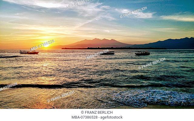 Indonesia, Gilli Meno, sunset