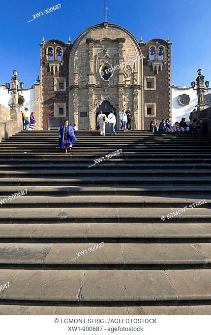 Historic pilgrimage church of the basilica of Our Lady of Guadalupe, Mexico City, Mexico, Central America