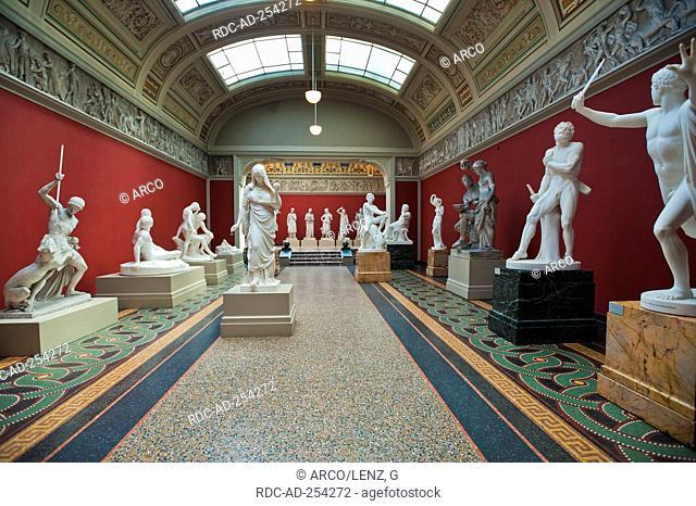 Statues Ny Carlsberg Glyptotek Museum Copenhagen Isle of Zealand Denmark