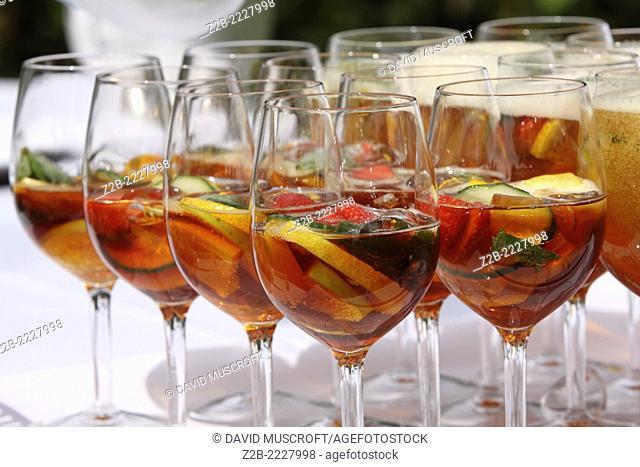 Wedding day drinks tray