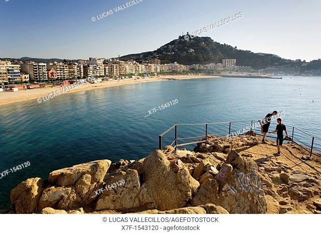 Blanes, as seen from `Punta de Sa Palomera'  Costa Brava  Girona province  Catalonia  Spain