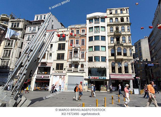 Istiklal Caddesi (street). istanbul, Turkey