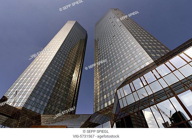 Germany, Frankfurt, April 20, 2017 View of the main administration of Deutsche Bank - FRANKFURT, Germany, 20/04/2017