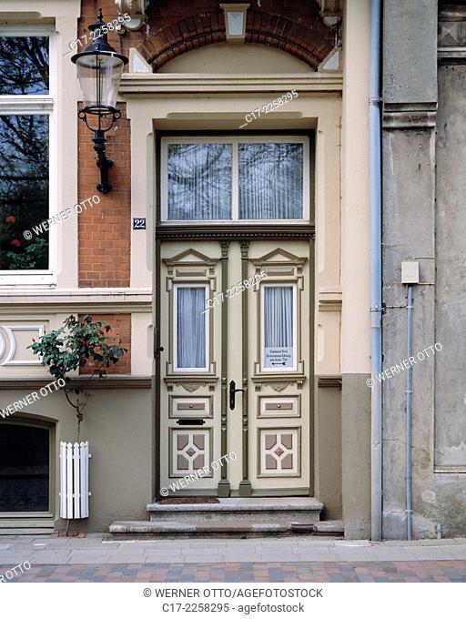 D-Friedrichstadt, Eider, Treene, Schleswig-Holstein, Wohnhaus, Haustuer, D-Friedrichstadt, Eider, Treene, Schleswig-Holstein, residential building
