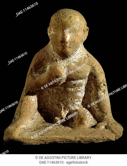 Ex-votive, terracotta. Italic civilisation, 6th-5th century BC.  Capua, Museo Provinciale Campano (Archaeological Museum)