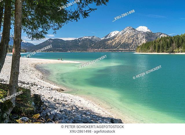 Lake Walchen, Kochel am See, Bavaria, Germany