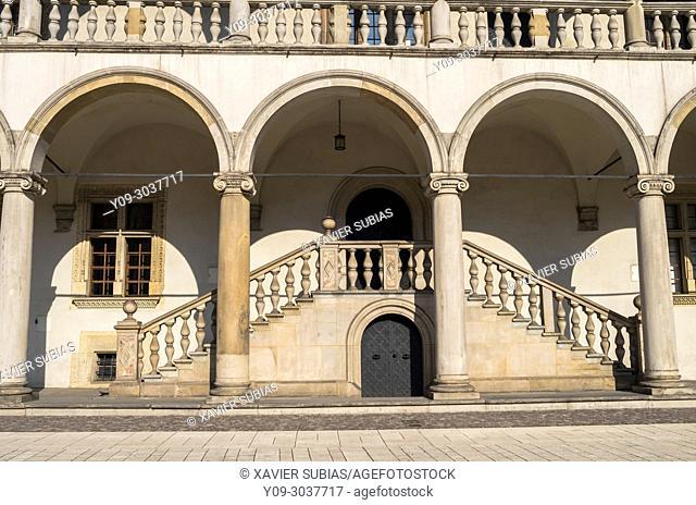 Arcaded courtyard, Wawel Royal Castle, Krakow, Poland