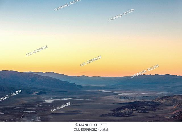 Landscape from Dante's View at sunset, Death Valley National Park, California, USA
