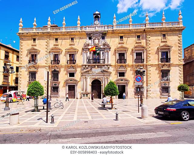 City Hall in Granada - beautiful city in Andalusia, Spain