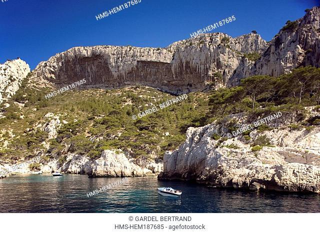 France, Bouches du Rhone, Marseille, Calanque de Sugiton