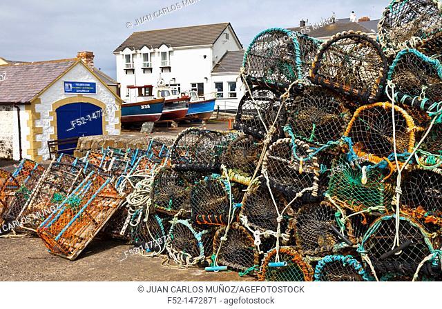 Harbour  Portballintrae Village  Causeway Coastal Route  Antrim County, Northern Ireland, Europe