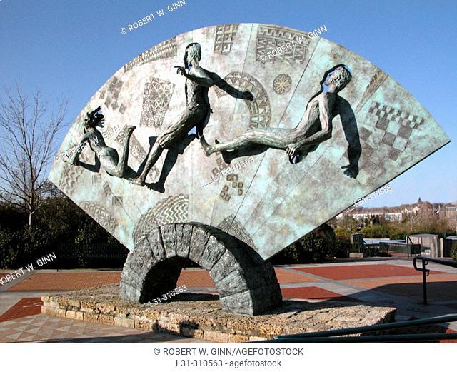 Quilt of Origins, Centennial Olympic Park. Atlanta. Georgia. USA