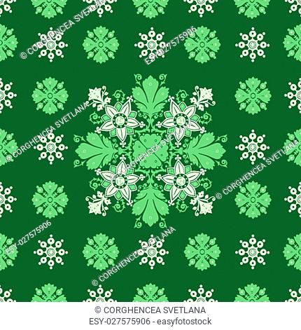 Wrapping wallpaper floral seamless tile for website vector, repeating foliage outline floral western damask flower, drapery luxury tiled decor old revival...