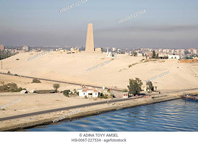 View along bank of the Suez Canal. Egypt. Africa