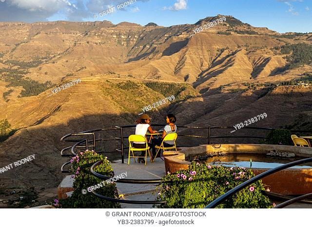 Views Of The Surrounding Countryside From The Terrace Of The Ben Abeba Restaurant, Lalibela, Ethiopia
