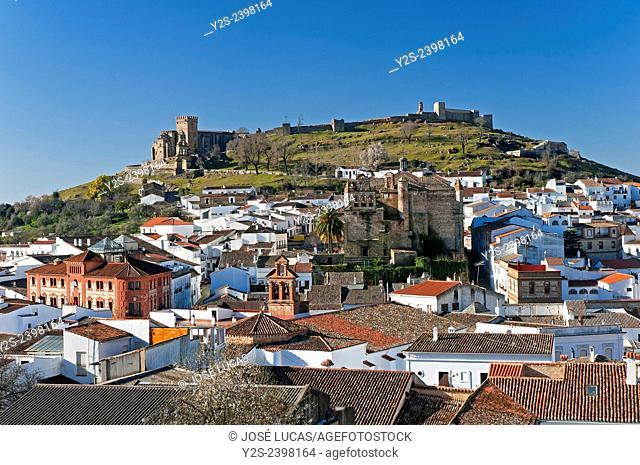 Panoramic view, Aracena, Huelva province, Region of Andalusia, Spain, Europe