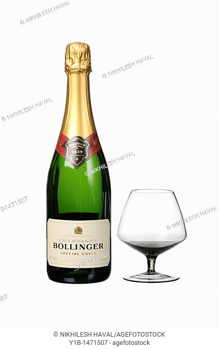 Bollinger 1829 special cuvee Champagne bottle glass