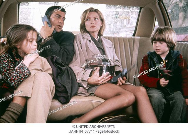 One Fine Day, aka: Tage wie dieser..., USA 1996, Regie: Michael Hoffman, Darsteller: (v. l.) Mae Whitman, George Clooney, Michelle Pfeiffer, Alex D