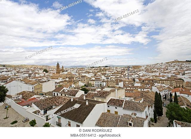 Overview from Antequera, Malaga province, Andalusia, Spain