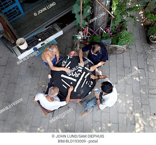 Chinese men playing game