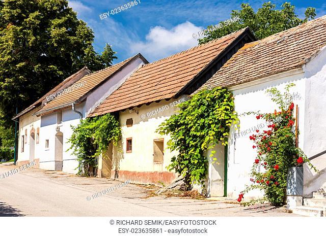 wine cellars, Stoitzendorf, Lower Austria, Austria