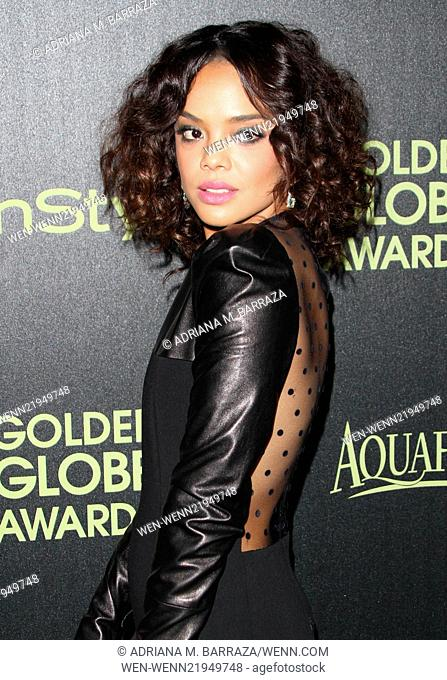 The Hollywood Foreign Press Association and InStyle Celebrate the 2015 Golden Globe Award Season held at Fig & Olive Melrose Place Featuring: Tessa Thompson...