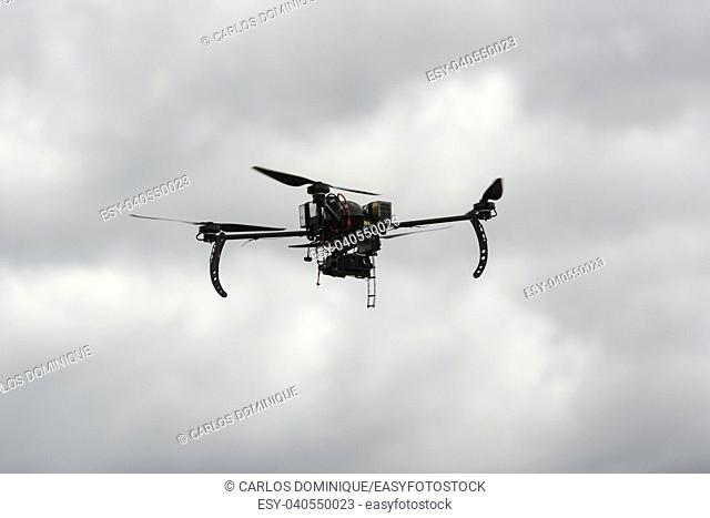 High endurance experimental drone in a test flight with thermal camera