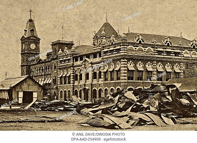 Vintage photo of princes dock, mumbai, maharashtra, india, asia