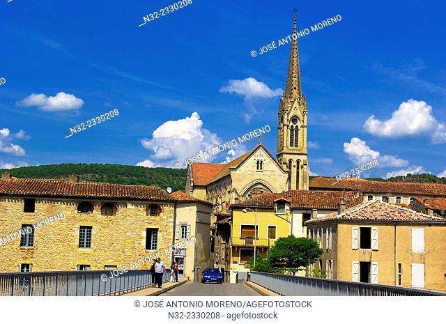 Saint Antonin Noble Val, Tarn et Garonne department, Midi-Pyrenees Region, France, Europe