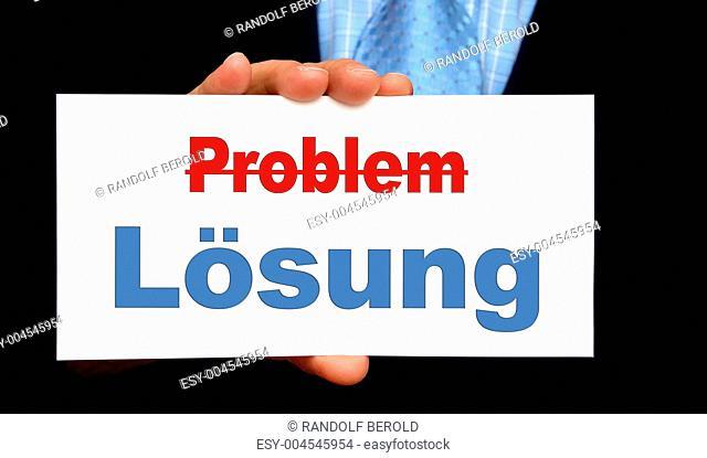 Problem und Lösung - Business Konzept