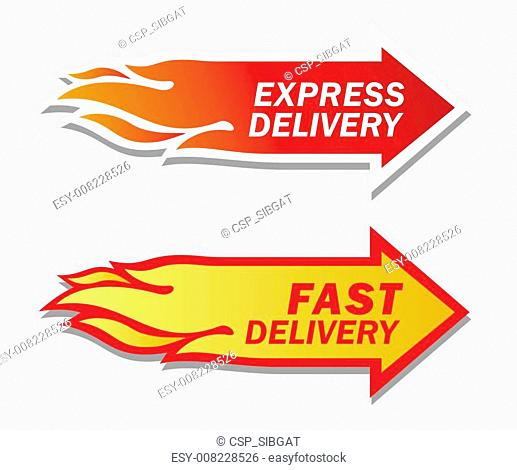 Express and Fast Delivery symbols