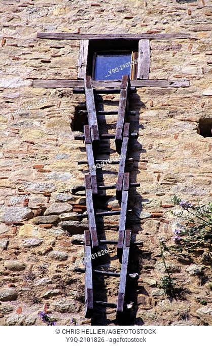 Wooden Folding Ladder Monastery of Saint Nicholas Anapausas Meteora Greece