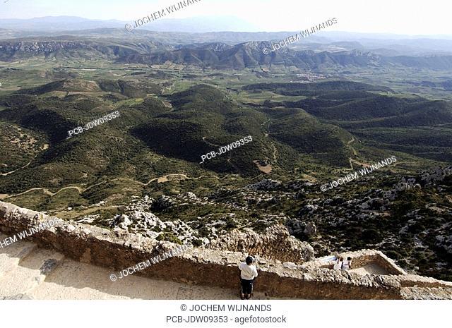 The castle of Queribus
