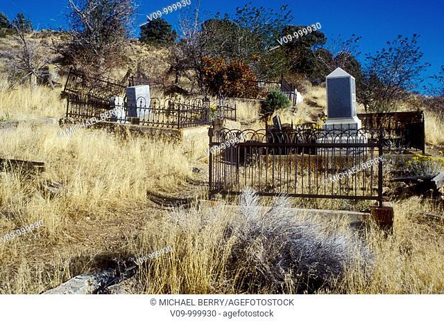 Cemetery, Virginia City, Nevada, USA