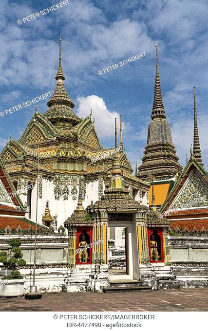 Phra Mondop temple, Buddhist temple complex Wat Pho, Bangkok, Thailand