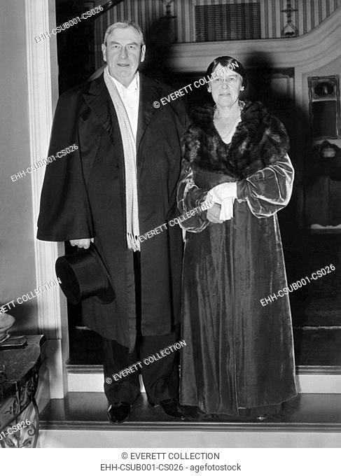 Supreme Court Justice and Mrs. Harlan Stone arrive for White House Annual Judicial Dinner. Jan. 9, 1936. During the 1932–1937 Supreme Court terms