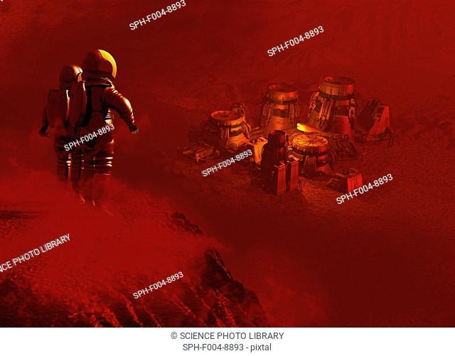 Martian colony, computer artwork