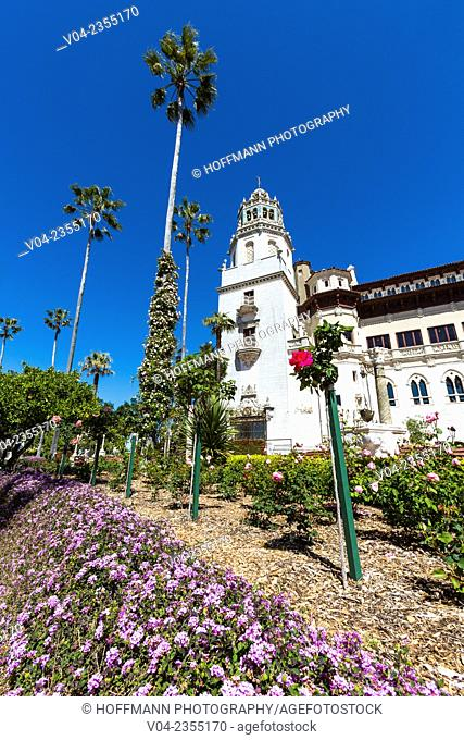 The famous Hearst Castle and gardens in California, USA
