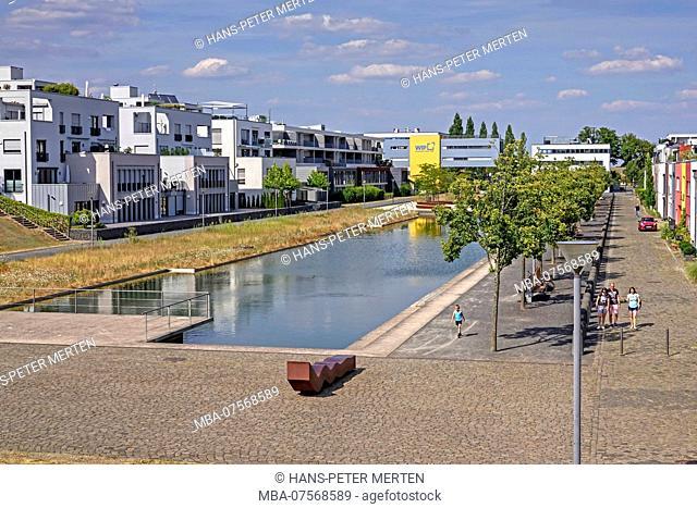 Water Pool on Petrisberg Hill, Trier, Rhineland-Palatinate, Germany