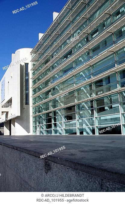 MACBA Museum of Modern Art architect Richard Meier Placa dels Angels Barcelona Catalonia Spain