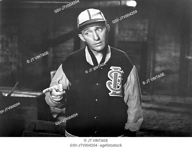 Bing Crosby, on-set of the Film, Going My Way, 1944