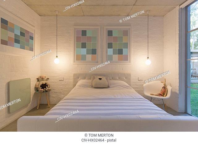 Pastel modern luxury home showcase child's bedroom