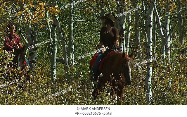 two women on horseback