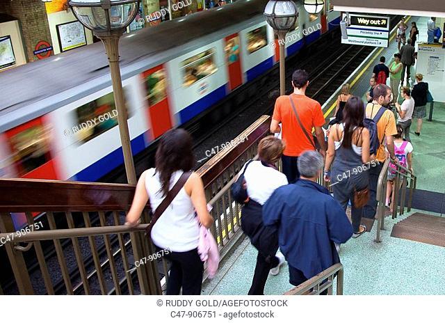England, London, South Kensington, Gloucester Subway Station, Circle Line