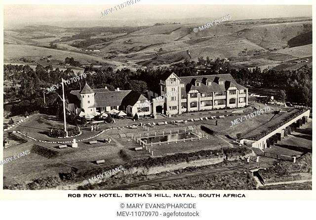 Aerial view of the Rob Roy Hotel, Botha's Hill, near Hillcrest, Natal Province, South Africa